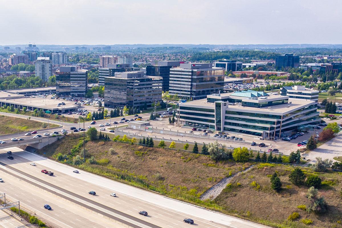 Aerial of York Region Business Area