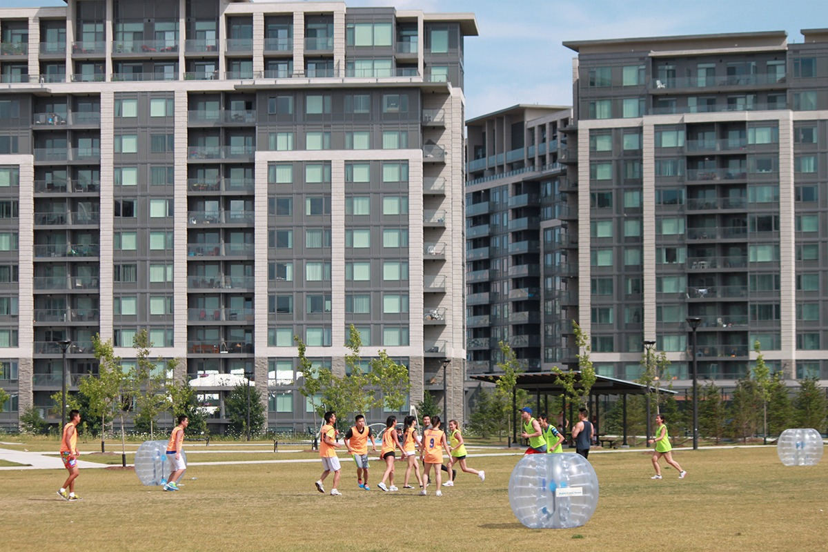 York Region residents playing in Mixed Use Community