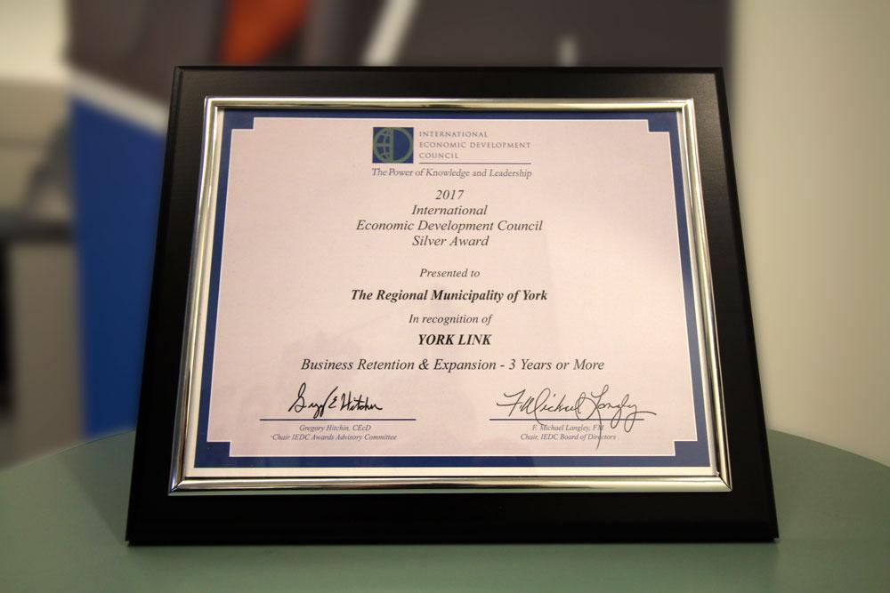 IEDC York Link Award