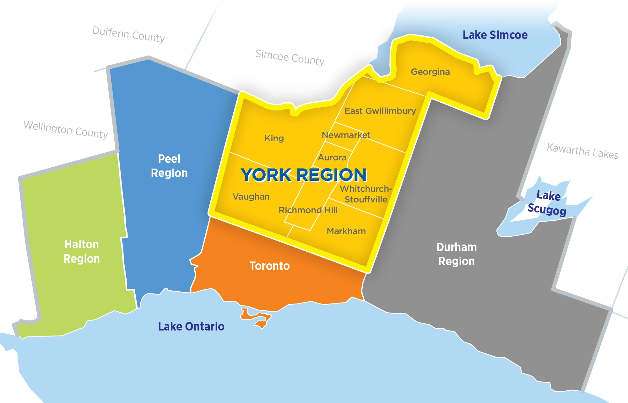 Map of GTA Regions