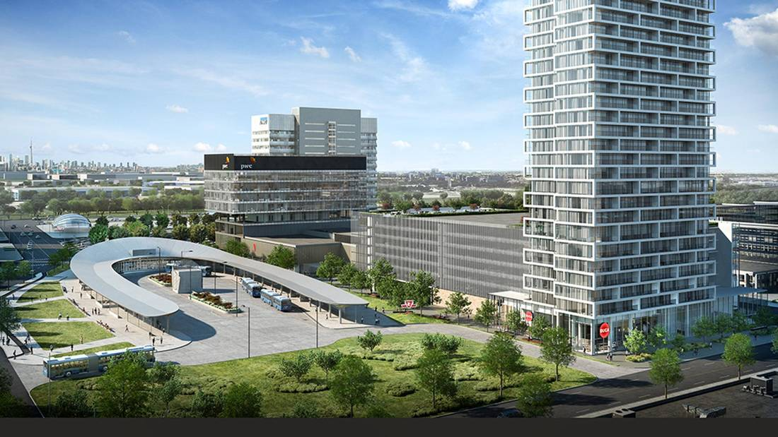 Transit City Condos and Transit Hub in VMC (Render)