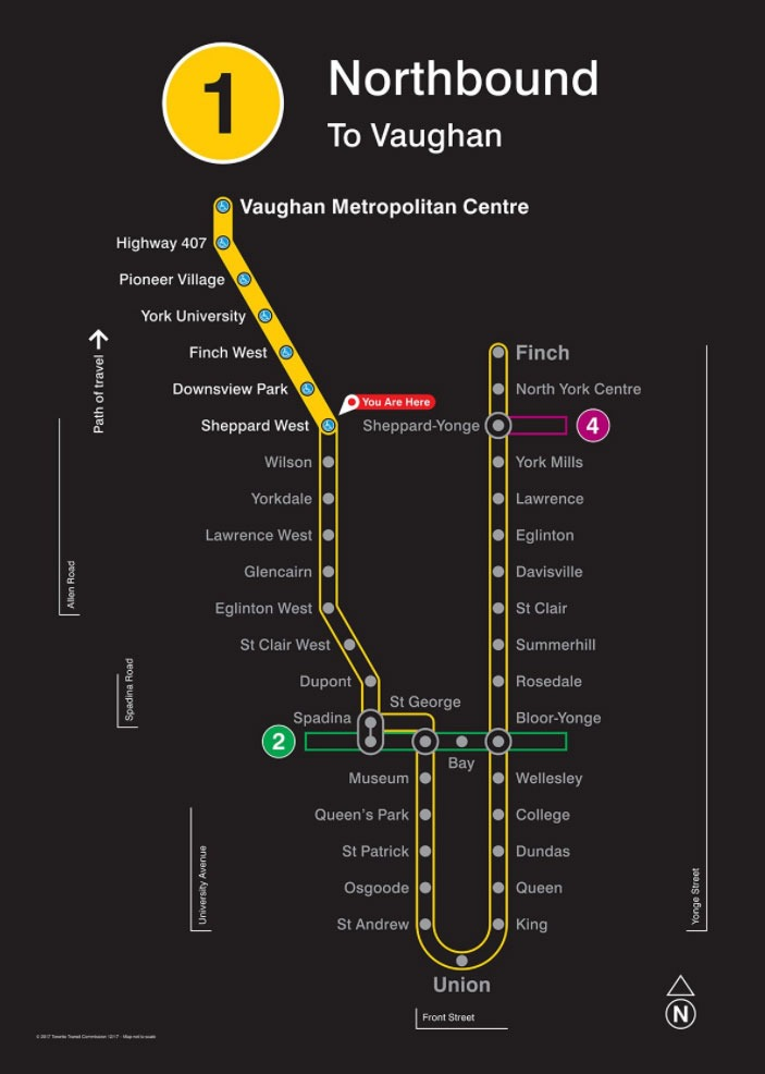Toronto Ttc Subway Map.This Is What The New Ttc Subway Map Looks Like York Link