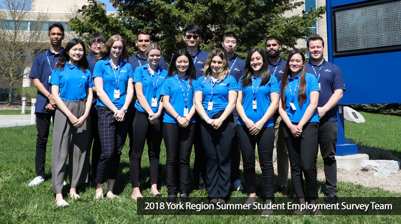 York Region employment survey summer students 2018