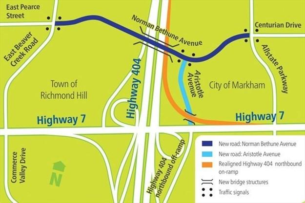 New Roads in York Region Map