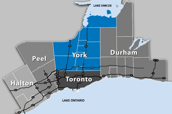Greater Toronto Area Map