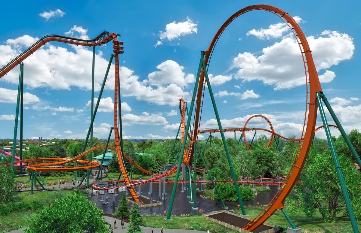 Record Breaking Roller Coaster in Vaughan