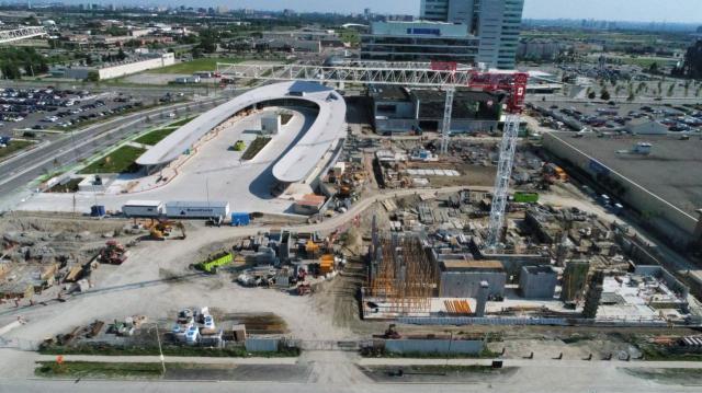Transit City Under Construction in Vaughan, York Region