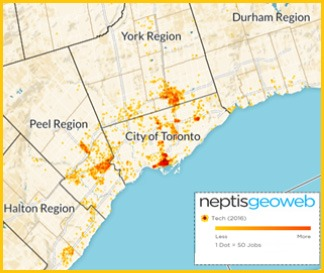 Neptis Heat Map of Tech in GTA