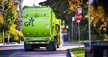 GFL garbage truck
