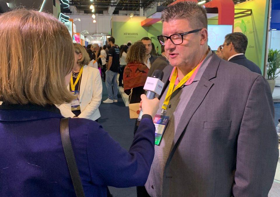 Gary Saarenvirta CEO being interviewed