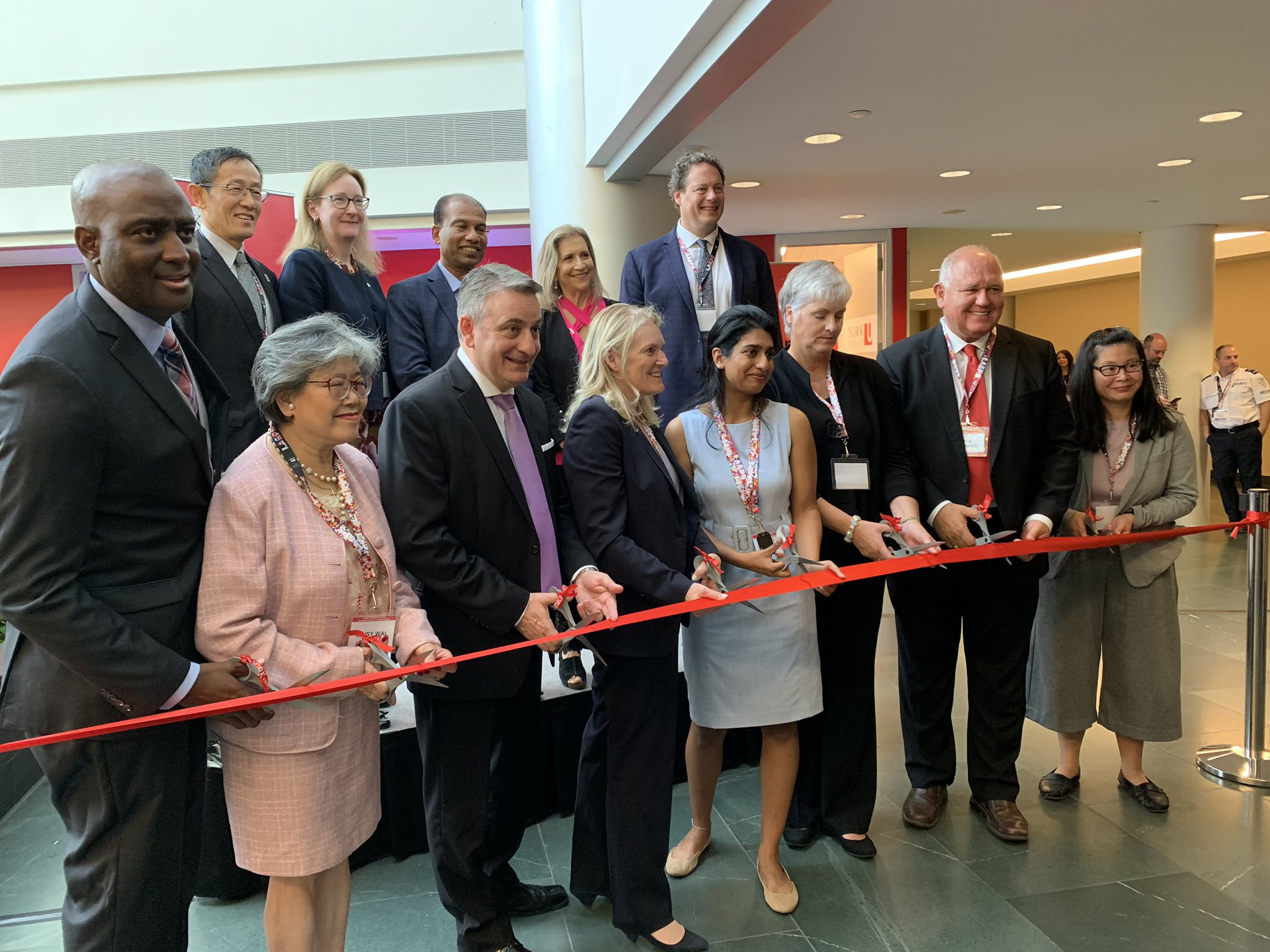 Representatives cut the Ribbon at York University space in Markham