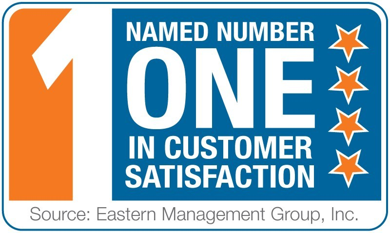 Badge for number one in customer satisfaction