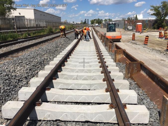 Construction on Stouffville Rail Line