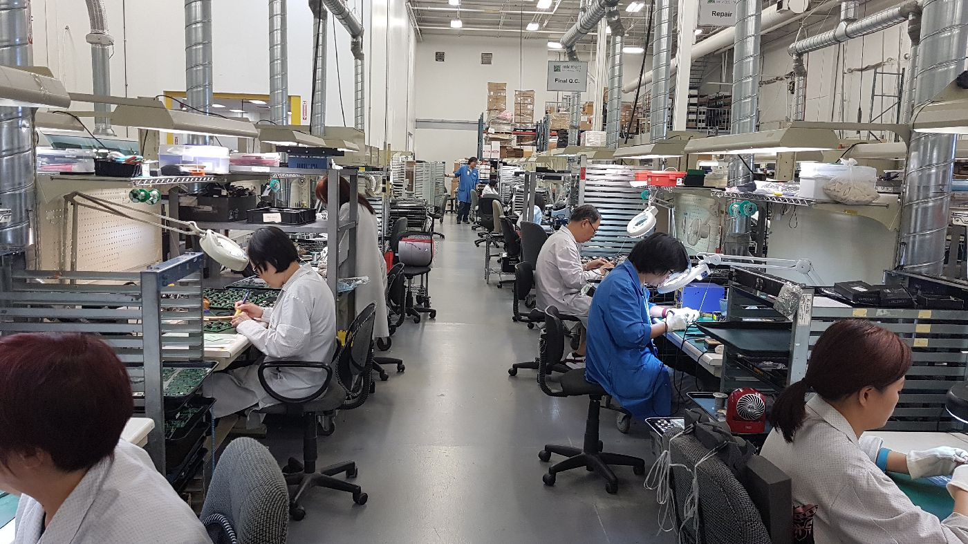 People working in Manufacturing