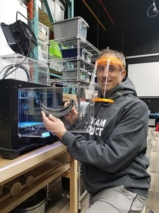 Face Shields being 3d printed
