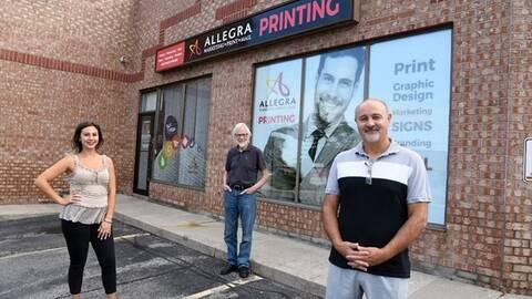 Staff at Allegra Marketing