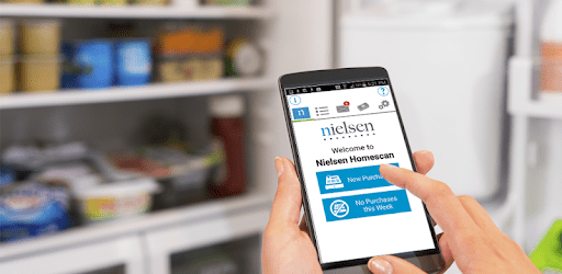mobile with Nielsen Homescan app