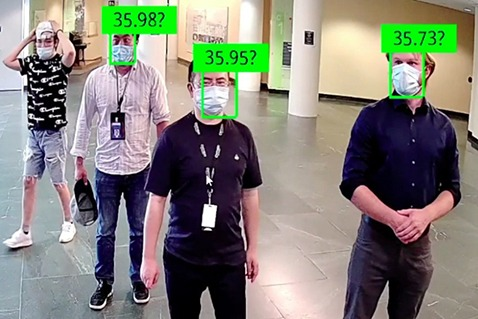 Facial Recogntion Scanning for Temperature and masks