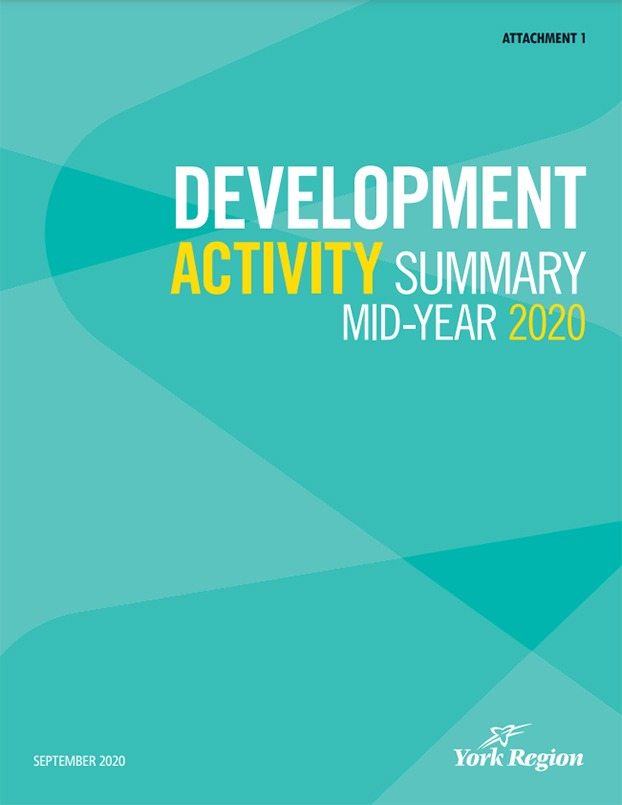 York Region Development Activity Mid Year Summary 2020