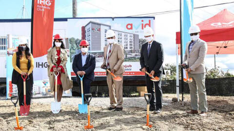 avid hotel groundbreaking in Vaughan