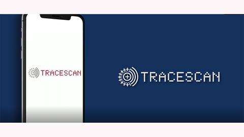 mobile phone displaying Tracescan app