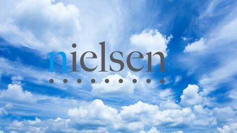 Nielsen logo in the clouds