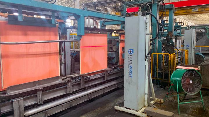 Interior of copper refining plant