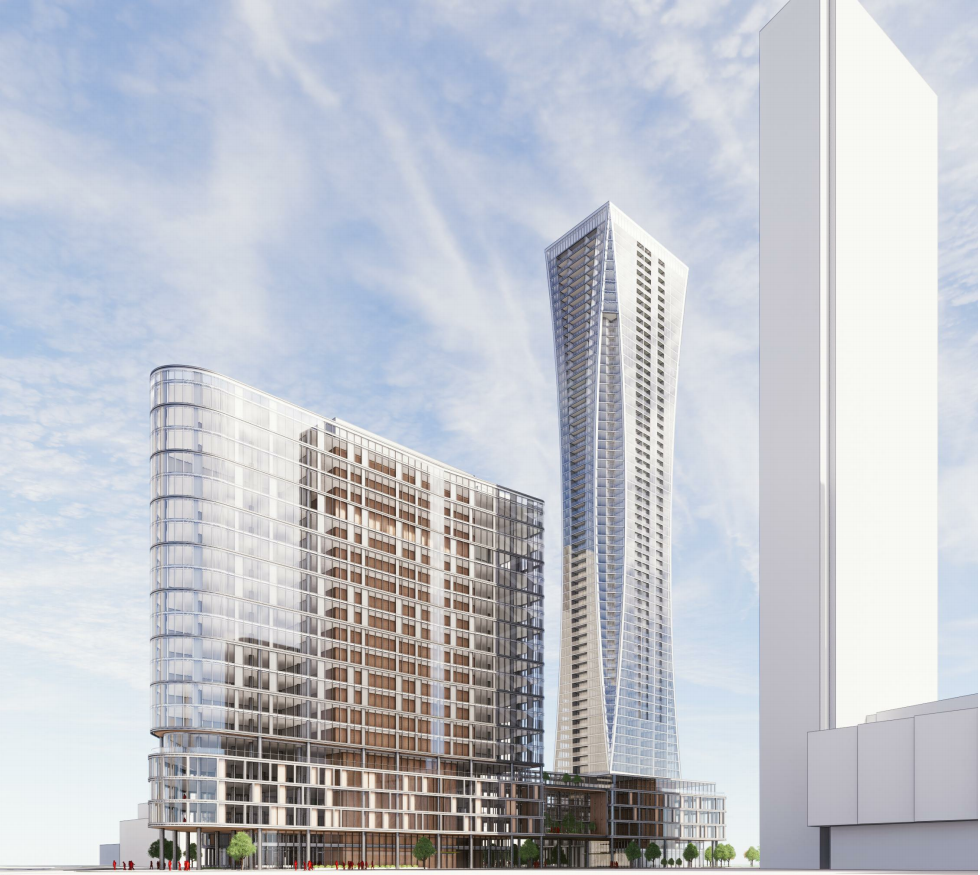 rendering of condo towers in Vaughan
