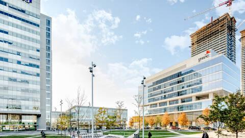 Exterior of PwC & KPMG building at VMC