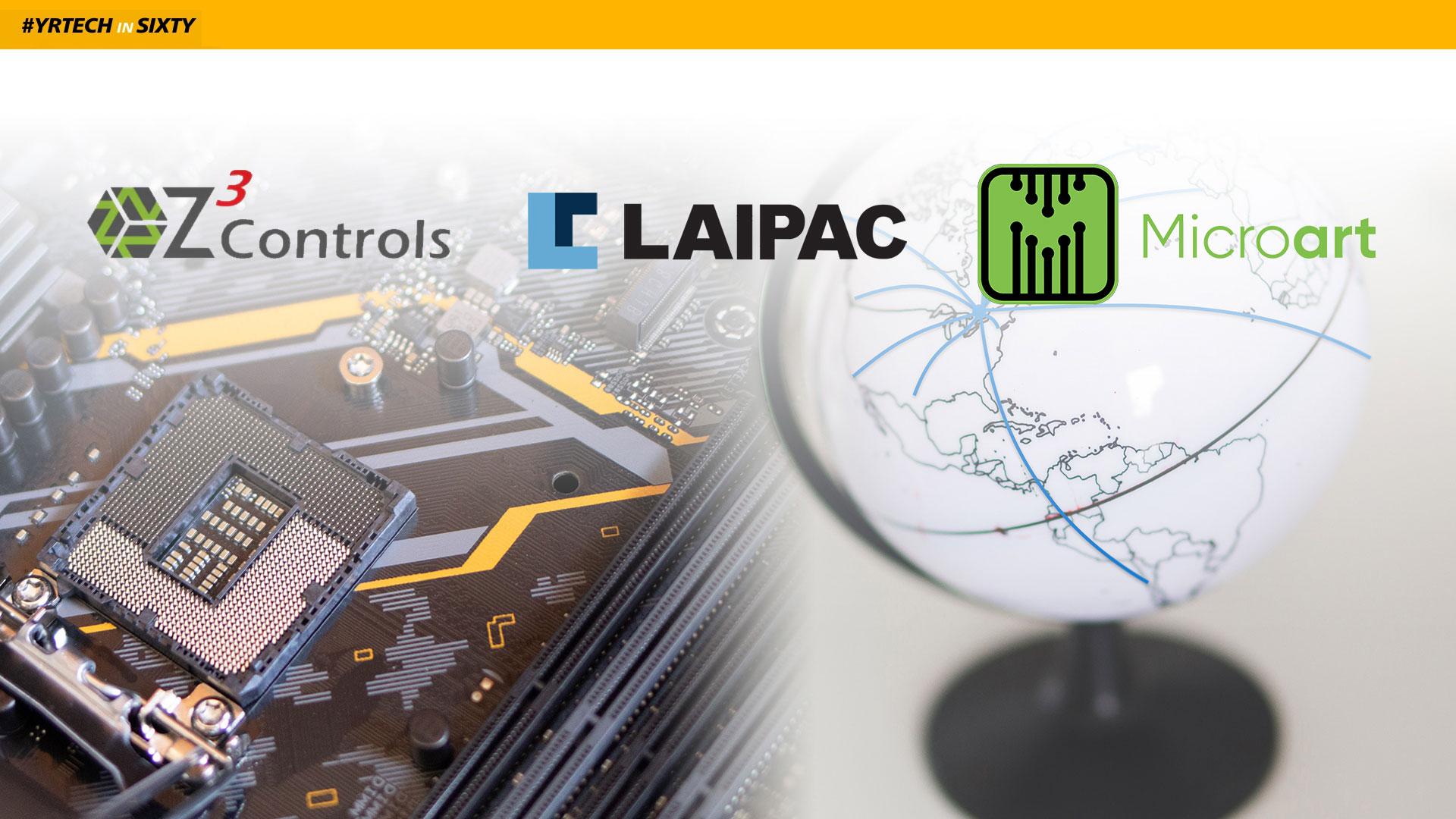 Company Logos, Globe, and Circuit Board