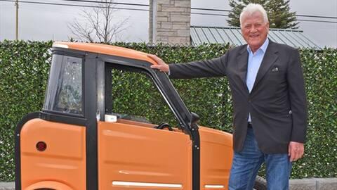 Frank Stronach and Mini Electric Vehicle