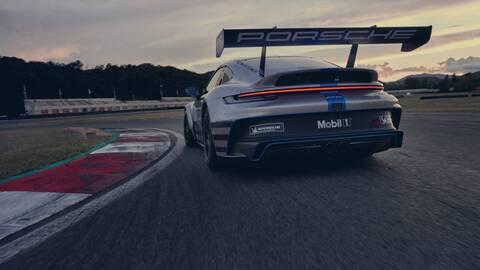 Porsche on a racetrack