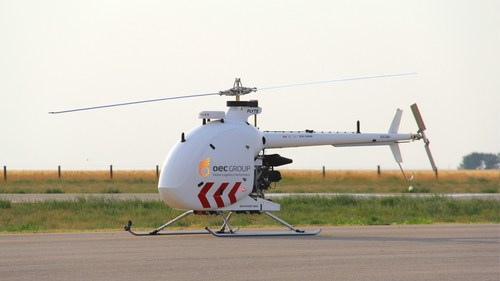 Drone Delivery Canada drone on a runway