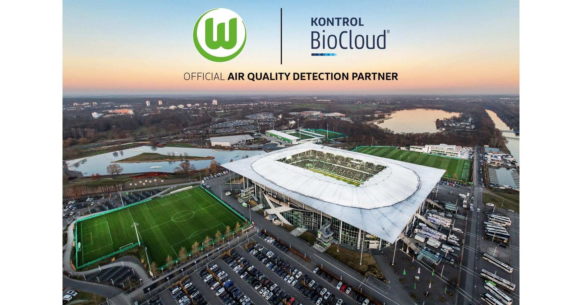 Aerial of soccer stadium