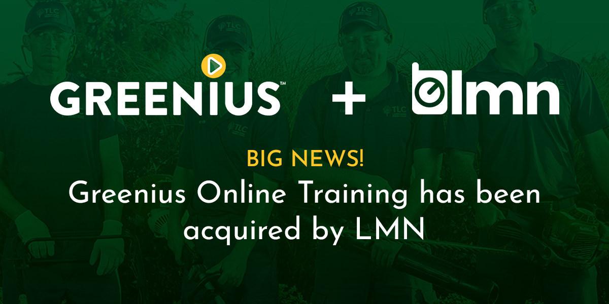 LMN & Greenius big news signage announcing acquisition